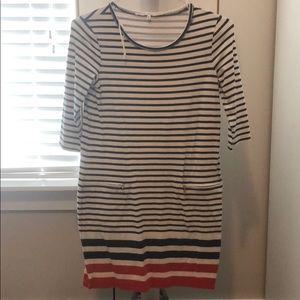 Rachel Roy Red White & Blue Striped Dress
